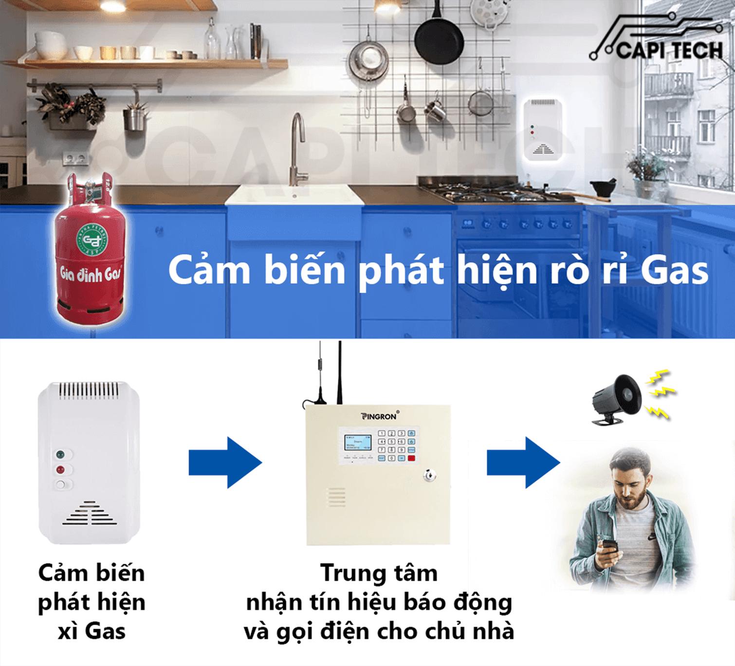 Thiết bị báo trộm qua điện thoại- báo gas Pingron