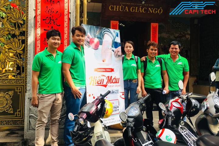 Capi Tech hiến máu nhân đạo ở chùa Giác Ngộ