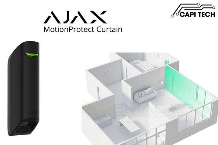 Cảm biến hồng ngoại dạng rèm cửa Ajax - MotionProtect Curtain- capitech.vn