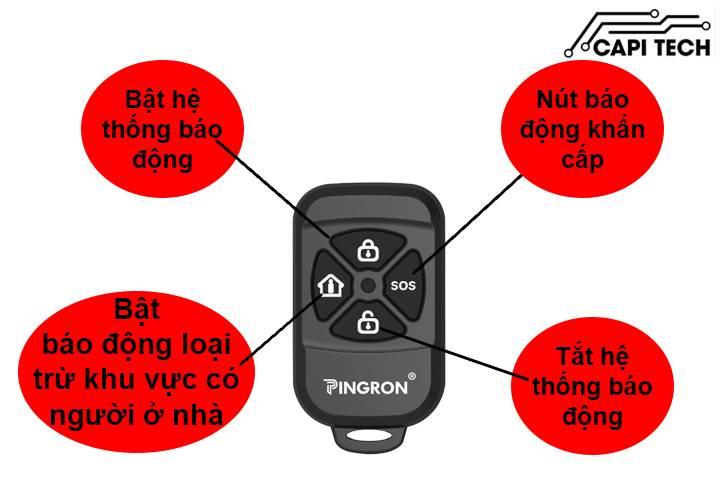 THIẾT BỊ CHỐNG TRỘM DÙNG SIM PINGRON PR-103GSM capitech.vn