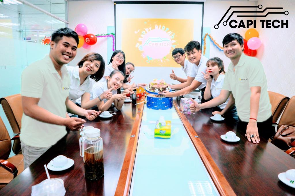 Bộ phận bán hàng Capitech tổ chức sinh nhật thể hiện tinh thần đoàn kết tập thể