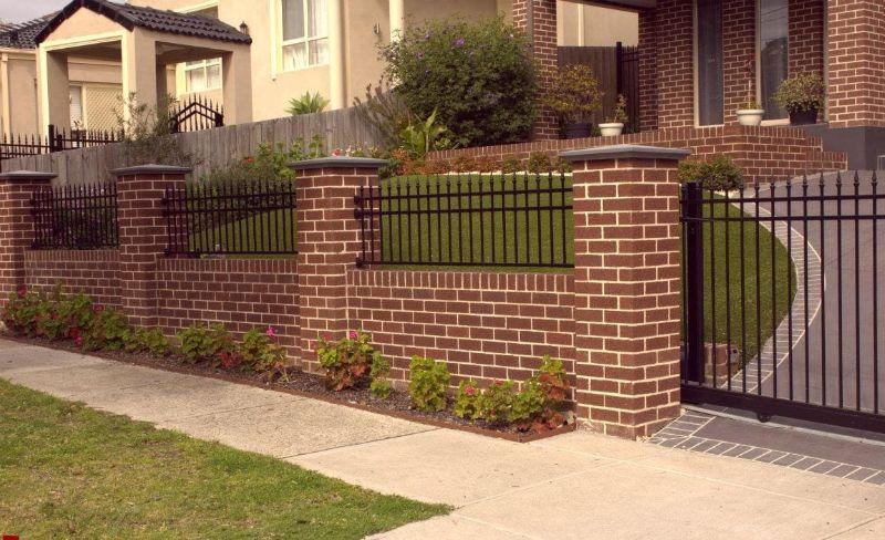 10 mẫu hàng rào xây gạch đẹp